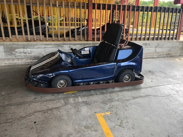 Dark Blue Go Kart