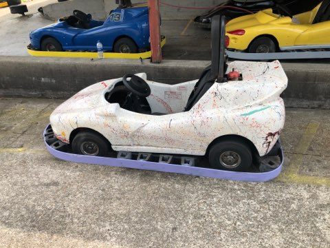 White Splatter Painted Go Kart